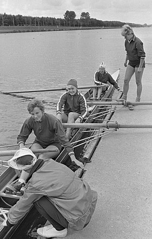 Valeria Lyulyaeva - Soviet coxed four at the 1966 European Championships, Lyulyaeva is likely 2nd from right