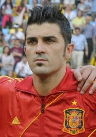 David Villa - Villa playing for Spain in 2013