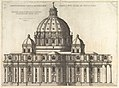 Speculum Romanae Magnificentiae- Elevation Showing the Exterior of Saint Peter's Basilica from the South as Conceived by Michelagelo (Published in 1569) MET DP826753.jpg