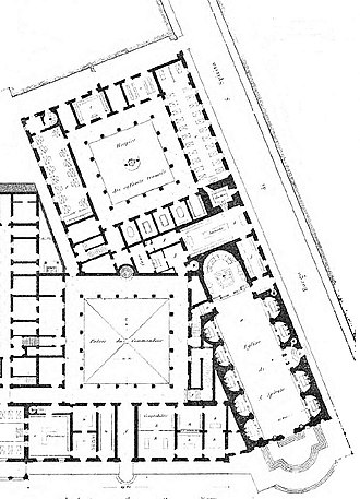 Santo Spirito in Sassia - Plan of Church and adjacent hospital