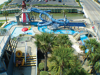Family Kingdom Amusement Park - An area of Splashes Oceanfront Water Park