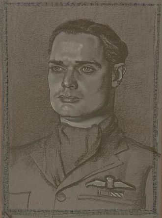 Douglas Bader - Squadron Leader D R S Bader, DSO, DFC. (1940) by Eric Kennington,(Art.IWM ART LD 832)