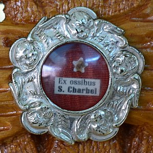 Charbel Makhlouf - A relic of St. Charbel at St. Raymond Maronite Cathedral (St. Louis, Missouri)