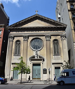 Vincent de Paul - St. Vincent de Paul Roman Catholic Church in New York City, now closed