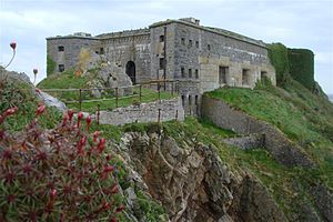 St Catherine's Fort Front, Tenby From On The Island.jpg