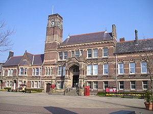 Metropolitan Borough of St Helens - St Helens Town Hall, the seat of the Borough Council