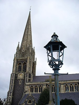 St Martin's Church, Dorking - Image: St Martin of Tours Tower geograph.org.uk 1050226