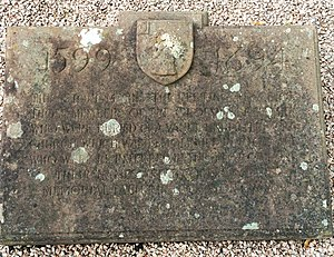 Sir Richard Grosvenor, 1st Baronet - Image: St Mary's Church Eccleston, Old Churchyard old Grovenor family gravesite plaque