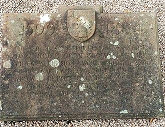 Sir Richard Grosvenor, 1st Baronet - Image: St Mary's Church Eccleston, Old Churchyard old Grovenor family gravesite plaque