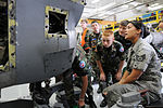 Staff Sgt. Jenelle Rodriguez shows C-130 intake to Ohio CAP cadets.JPG