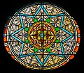 Stained glass windows of the church of Our Lady of the Purification of Cassaniouze 05.jpg