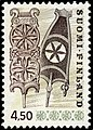 Stamp of Finland - 1976 - Colnect 46770 - Distaff wood carving - perf 11¾.jpeg