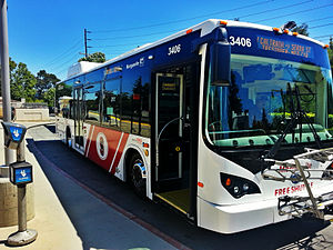 Stanford Marguerite Shuttle - One of Stanford's Marguerite buses (BYD electric bus)