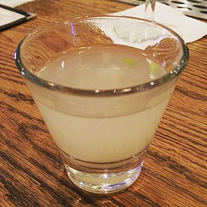 Clam juice - A shot glass of clam juice