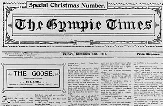 The Gympie Times - Front page of the Gympie Times and Mary River Mining Gazette newspaper, 1911