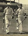 StateLibQld 1 233104 Autographed photograph of the English batsmen, Jack Hobbs and Herbert Sutcliffe, 1928 Cropped.jpg