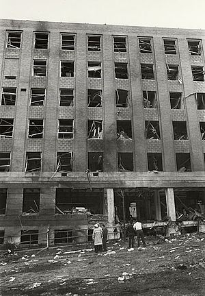 Sterling Hall bombing - Sterling Hall after the bombing