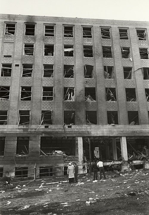 Sterling Hall bombing after explosion 1