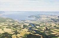Stjørdal, flyfoto fra øst (2019).jpg