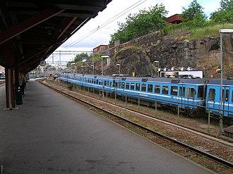 Stockholm East Station - Image: Stockholms östra plattformarna 2005 06 27