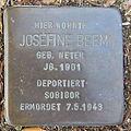 Stolperstein Bad Bentheim Dorfstraße 21 Josefine Beem.JPG