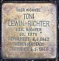 Stolperstein Bayerische Str 4 (Wilmd) Toni Lewin-Richter.jpg