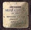 Stolperstein Danckelmannstr 33 (Charl) Hanna Kaminski.jpg