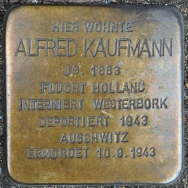 Stolperstein Geldern Hartstraße 2 Alfred Kaufmann