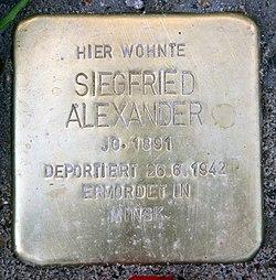 Photo of Siegfried Alexander brass plaque