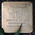 Stolperstein Hindenburgdamm 11 (Lifel) Etta Ottilie Veit Simon.jpg