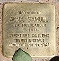 Stolperstein Margaretenstr 2 (Grune) Anna Samuel.jpg