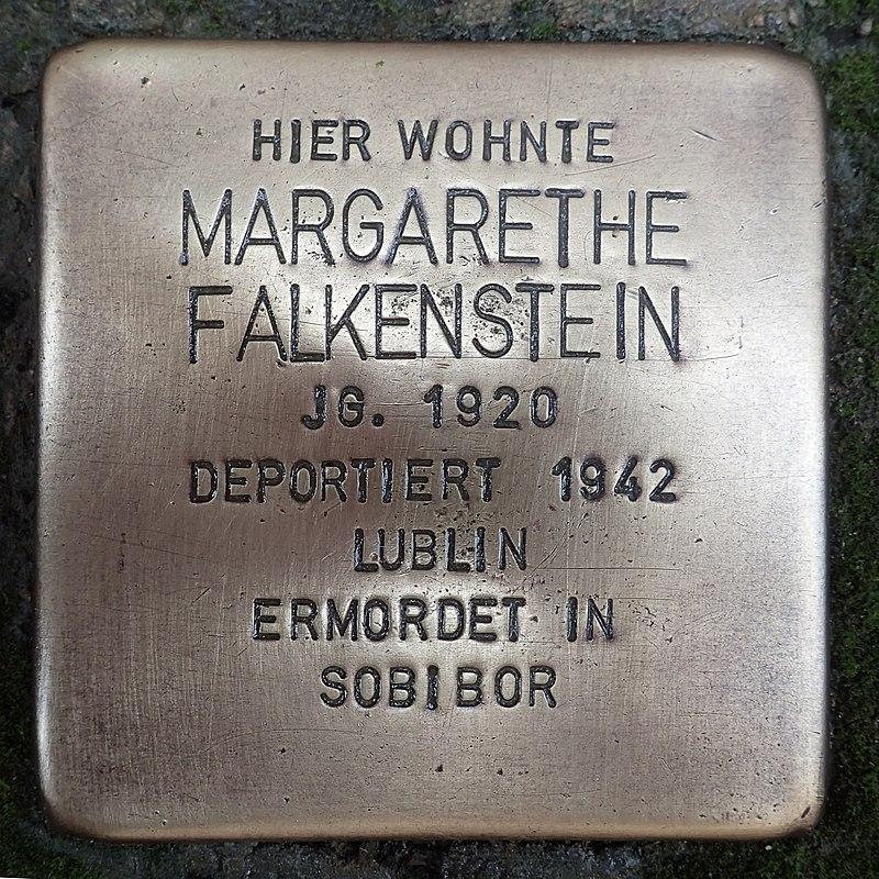 Stolperstein für Margarethe Falkenstein