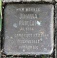 Stolperstein Schulzendorfer Str 44 (Heils) Johanna Pawlewicz.jpg
