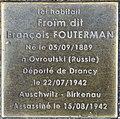 Stolpersteine Froïm Fouterman 53 rue Clos Orléans Fontenay Bois 2.jpg