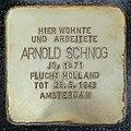Stumbling block for Arnold Schnog (Lorenzstrasse 5)