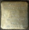 Stumbling block for Dorothea Susanne Stein (Jahnstraße 26)