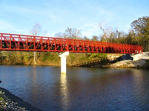 Stones River - The Stone Rivers Pedestrian Greenway Bridge in Nashville