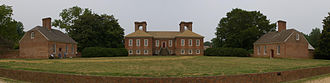 Stratford Hall (plantation) - A panorama of Stratford Hall Plantation, set on high bluffs overlooking the Potomac River in the Northern Neck of Virginia.