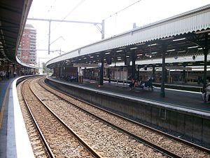Strathfield railway station - Westbound view from Platform 7