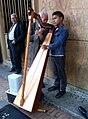 Street Musician In Bogotá - Harp.jpg