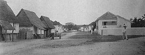 Hagåtña - Street view of Agana, around 1899-1900.