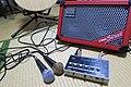 Street sound system - Roland Cube Street amp & Edirol M-10MX mixer.jpg