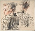 Studies of a Woman Wearing a Cap MET DP808446.jpg
