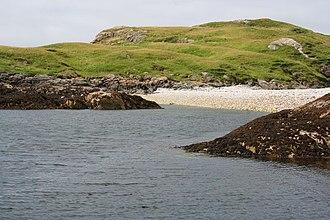 Eilean Dubh, Summer Isles - Beach on Eilein Dhuibh