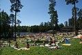 Sunbathing at Kuusijärvi, Vantaa in 2008.jpg