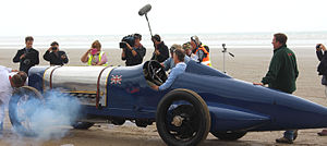 Pendine Sands - Sunbeam 350HP at Pendine Sands in Wales on  the 90th anniversary of Sir Malcolm Campbell's land speed record.