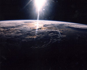 Sunlight over Earth as seen by STS-29 crew - GPN-2003-00025
