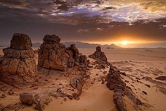 Tassili n'Ajjer - Image: Sunrise Djanet