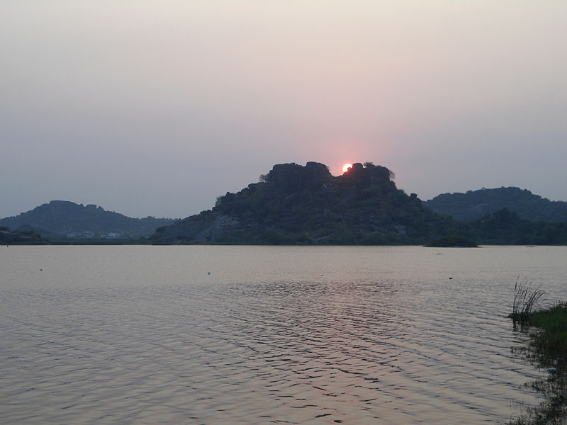 File:Sunset at Bhadrakali Lake 02.JPG