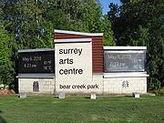 Surrey Arts Centre (street sign)